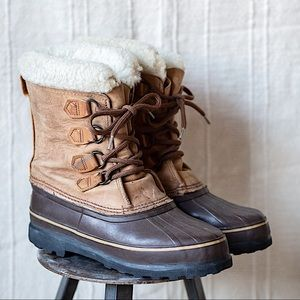 Sorel Alpine Snow Boots Lined Lace Up
